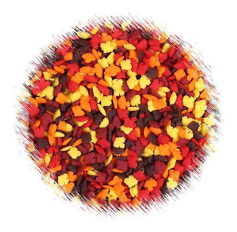 Mini Fall Leaves Sprinkles | www.bakerspartyshop.com