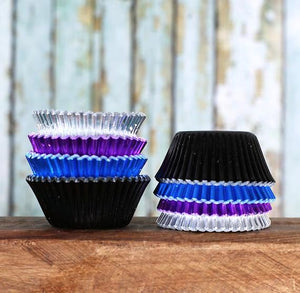 Mini Foil Cupcake Liners: Galaxy | www.bakerspartyshop.com
