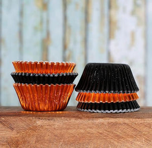Mini Foil Halloween Cupcake Liners | www.bakerspartyshop.com