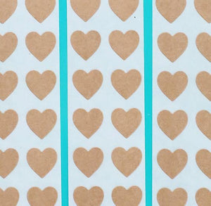 Brown Heart Stickers: .5"