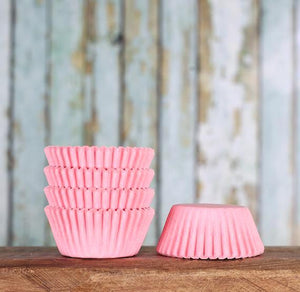 Bulk Mini Light Pink Cupcake Liners: Solid | www.bakerspartyshop.com