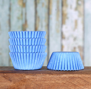 Mini Light Blue Cupcake Liners: Solid | www.bakerspartyshop.com
