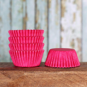 Mini Pink Cupcake Liners: Solid | www.bakerspartyshop.com