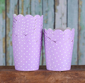 Mini Light Purple Baking Cups | www.bakerspartyshop.com