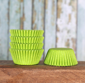 Bulk Mini Lime Green Cupcake Liners | www.bakerspartyshop.com