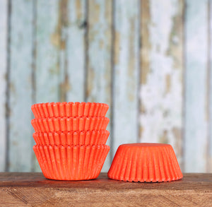 Bulk Mini Orange Cupcake Liners | www.bakerspartyshop.com