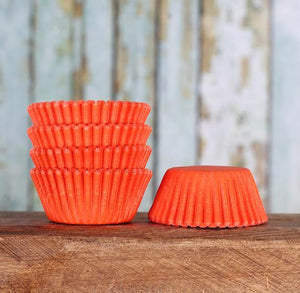 Mini Orange Cupcake Liners | www.bakerspartyshop.com