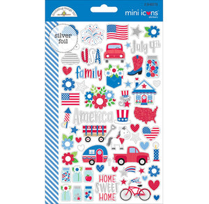 Mini Icons Patriotic Stickers | www.bakerspartyshop.com