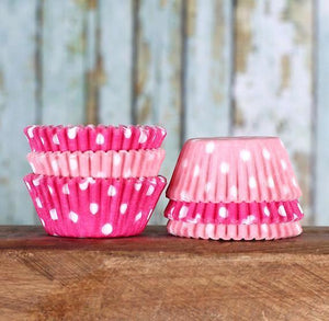 Mini Ombre Pink Cupcake Liners: Polka Dot | www.bakerspartyshop.com