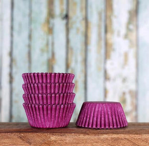 Bulk Mini Purple Cupcake Liners: Solid | www.bakerspartyshop.com