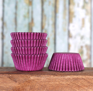 Mini Purple Cupcake Liners: Solid | www.bakerspartyshop.com