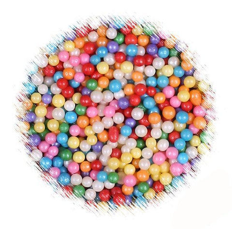 Mini Rainbow Sugar Pearls | www.bakerspartyshop.com