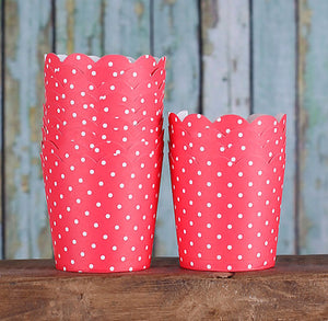 Mini Red Baking Cups: Polka Dots | www.bakerspartyshop.com