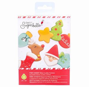 Sweet Sugarbelle Mini Christmas Cutters: Very Merry | www.bakerspartyshop.com