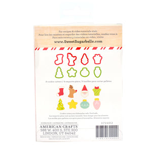 Sweet Sugarbelle Mini Christmas Cookie Cutters: Very Merry | www.bakerspartyshop.com