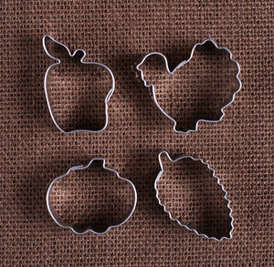 Mini Thanksgiving Cookie Cutter Set | www.bakerspartyshop.com