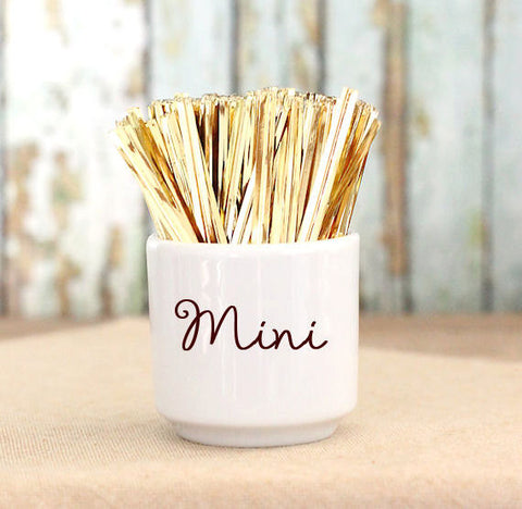 "Mini Metallic Gold Twist Ties (3"") 