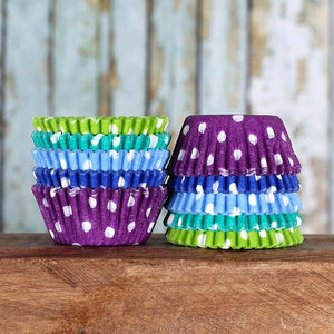 Mini Under the Sea Cupcake Liners: Polka Dot | www.bakerspartyshop.com