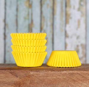 Mini Yellow Cupcake Liners: Solid | www.bakerspartyshop.com