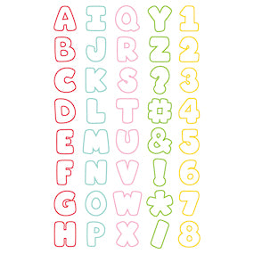 Sweet Sugarbelle Mini Alphabet Cookie Cutters Set | www.bakerspartyshop.com