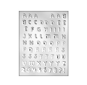 Mini Alphabet Chocolate Mold: 1/2"