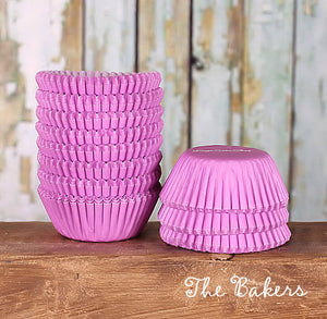 Bulk Mini Light Purple Cupcake Liners: Solid | www.bakerspartyshop.com