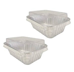 Mini Foil Loaf Pans with Lids: Silver | www.bakerspartyshop.com