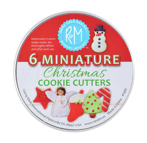 Mini Christmas Cookie Cutters Set in Tin | www.bakerspartyshop.com