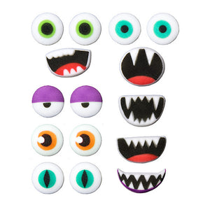 Monster Face Sugar Toppers | www.bakerspartyshop.com