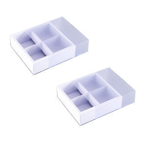 White Cake Gem Boxes: 4 Cell | www.bakerspartyshop.com
