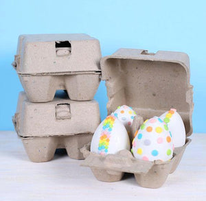 Natural Egg Cartons: 4 Egg | www.bakerspartyshop.com