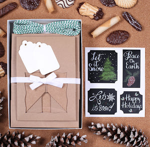 Christmas Cookie Box Kit: Let It Snow | www.bakerspartyshop.com