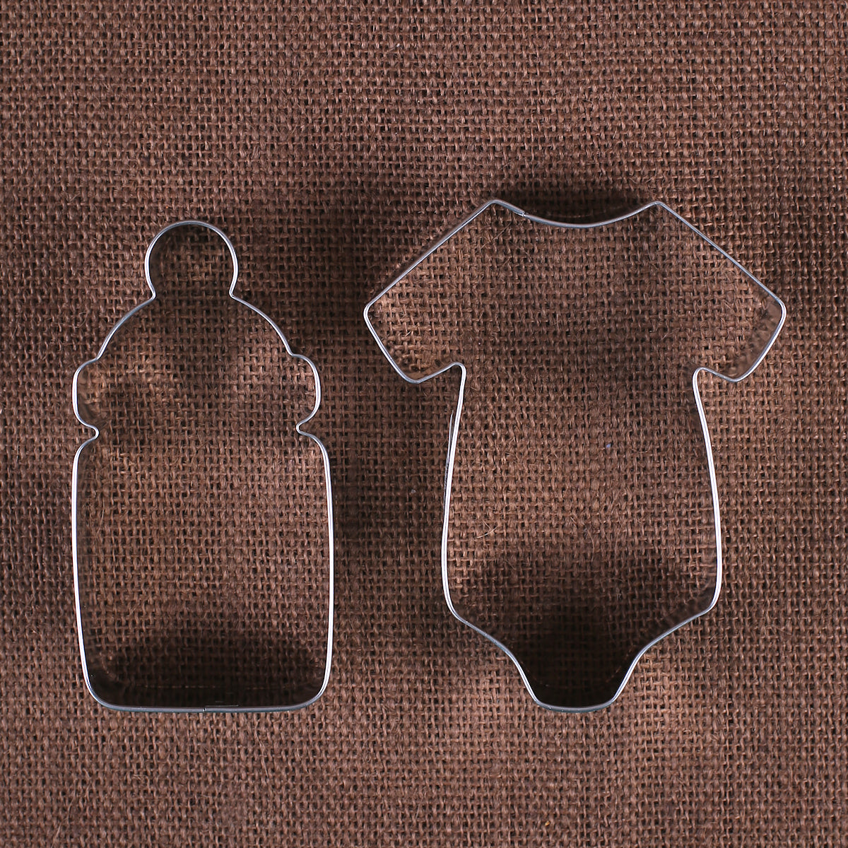 Baby Shower Cookie Cutters: Bottle & Onesie | www.bakerspartyshop.com