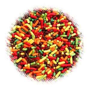 Fall Harvest Jimmies Sprinkles Mix | www.bakerspartyshop.com