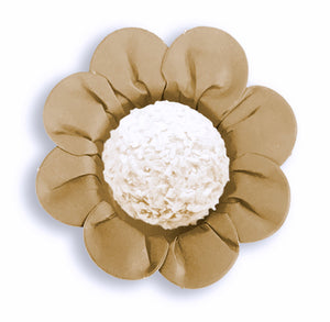Daisy Flower Candy Cups: Kraft Brown | www.bakerspartyshop.com