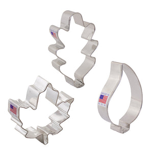 Fall Leaf Cookie Cutters | www.bakerspartyshop.com