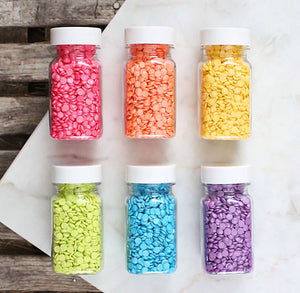 Bright Rainbow Confetti Sprinkles Set | www.bakerspartyshop.com