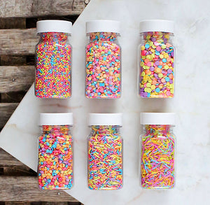 Bright Rainbow Sprinkles Set | www.bakerspartyshop.com