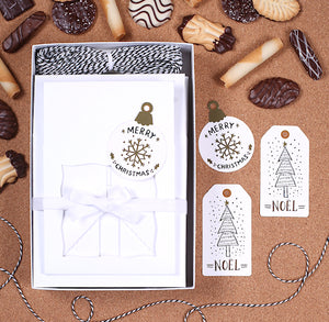 Christmas Cookie Box Kit: Noel | www.bakerspartyshop.com