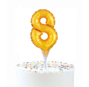 Inflatable Balloon Cake Topper: Number 8 | www.bakerspartyshop.com