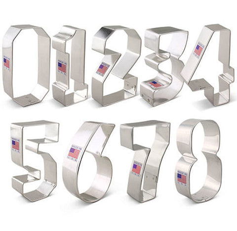 Numbers Cookie Cutters Set | www.bakerspartyshop.com