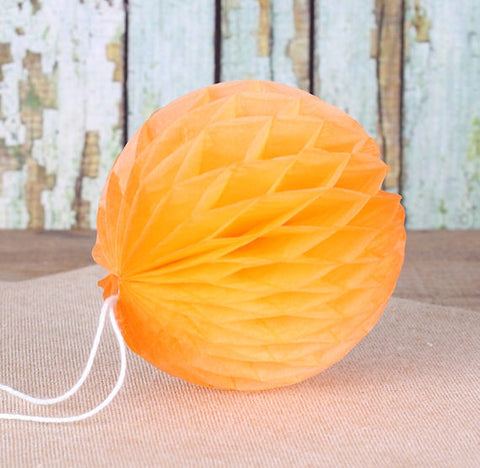 Orange Honeycomb Tissue Balls: 3"