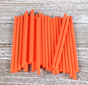 Orange Lollipop Sticks: 4.5"