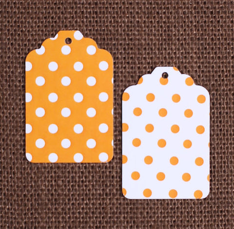 Orange Gift Tags: Polka Dot | www.bakerspartyshop.com