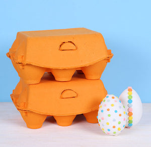 Marigold Orange Egg Cartons: 6 Egg | www.bakerspartyshop.com