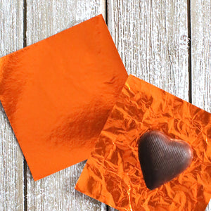 Orange Foil Candy Wrappers | www.bakerspartyshop.com