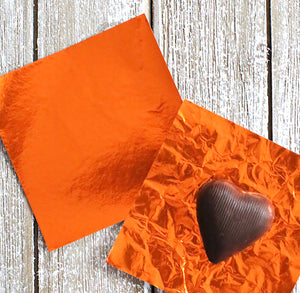 Orange Foil Candy Wrapper | www.bakerspartyshop.com