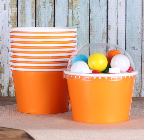 Large Orange Ice Cream Cups | www.bakerspartyshop.com