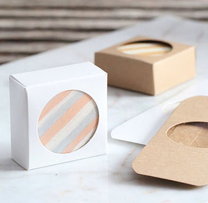 Mini Favor Boxes with Windows: Brown | www.bakerspartyshop.com