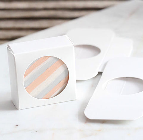 Mini Favor Boxes with Windows: White | www.bakerspartyshop.com